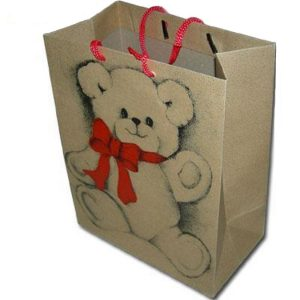 Christmas Paper Gift Bag With Lovely Bear