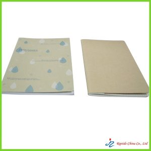 exercise book with printing