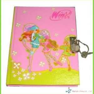 Hardcover Diary with lock