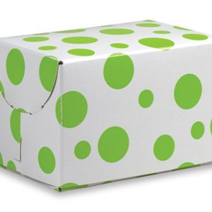 Art Paper Gift Box with Citrus Dots