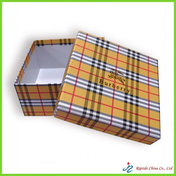 two pieces striped box