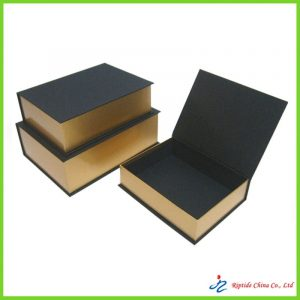 rigid book shaped box