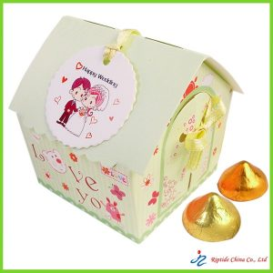 Green Love U Candy Paper Box