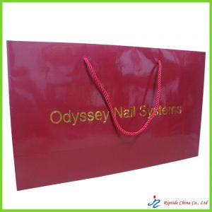 red shopping paper bags