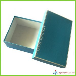 elegant blue shoe boxes