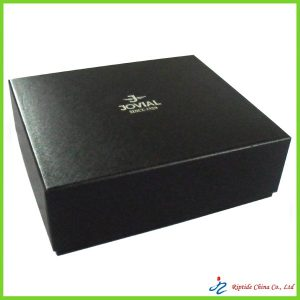 high quality black cardboard gift box