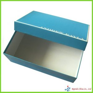 rigid elegant blue shoe boxes