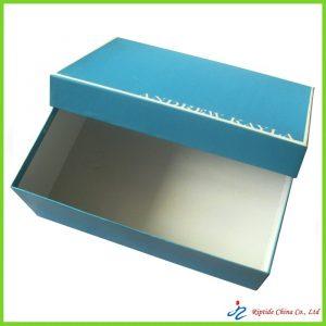rigid elegant blue shoe boxes
