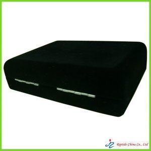 black velvet covered jewelry boxes