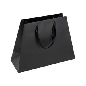 Black Pyramid Paper Shopping Bag