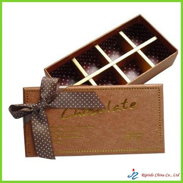 Cardboard chocolate boxes